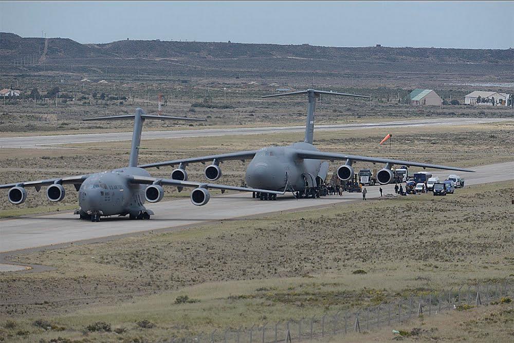 Imagens de aviões dos USA