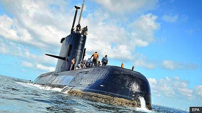 imagem do submarino desaparecido ARA San Juan