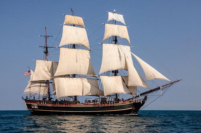 imagem do navio Bounty, comandado por William Bligh um dos grandes navegadores da história