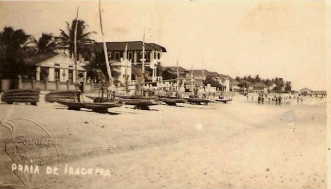 imagem de praia de Iracema CE, nos anos 40