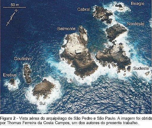 imagem do arquipélago São Pedro e São Paulo