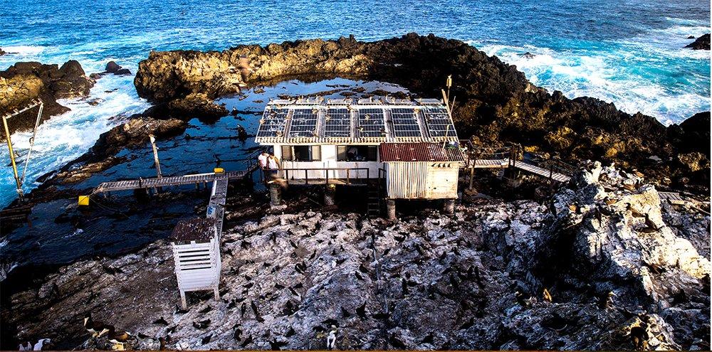 imagem da base científica do Arquipélago São Pedro e São Paulo