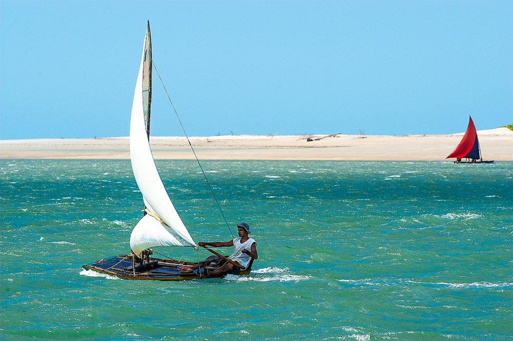 imagem de jangada no Litoral do Ceará