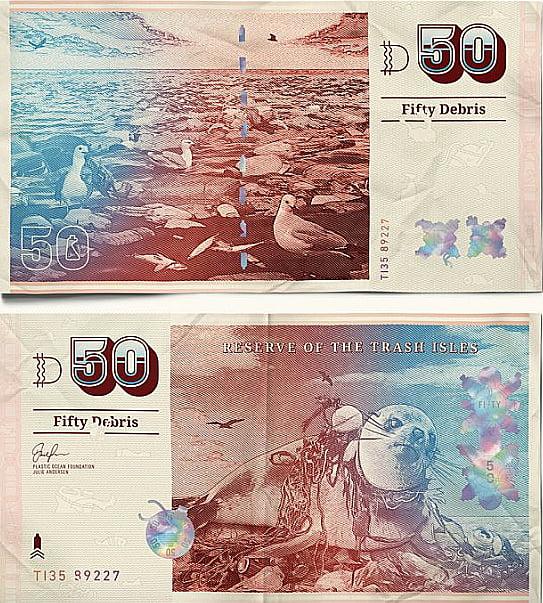 imagem de notas de dinheiro no post tornar uma ilha de lixo num país oficial