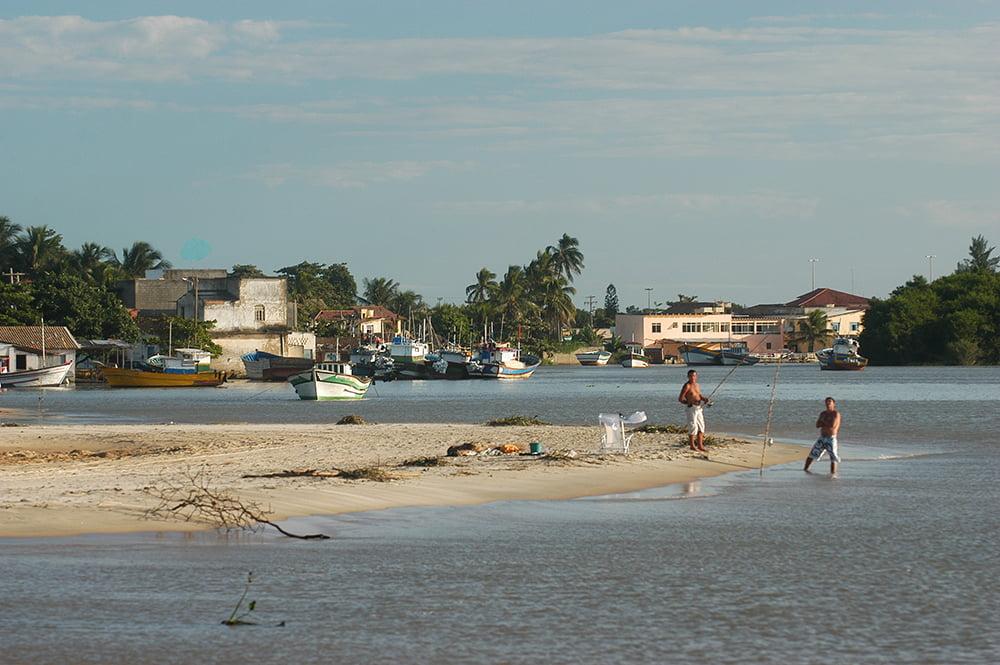 imagem da foz do paraíba do sul para ilustrar post o litoral de Búzios - Macaé - Cabo Frio - Baía da Guanabara