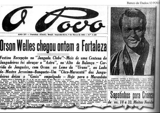 Imagem de jornal de 1942