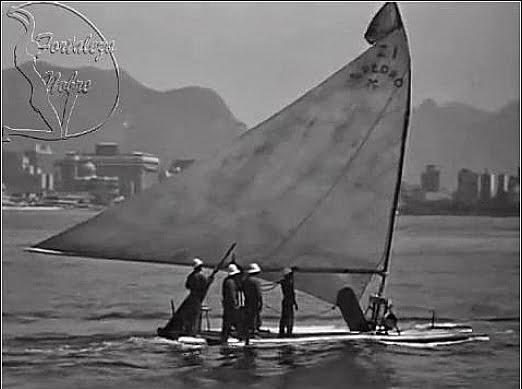 imagem da jangada São Pedro no Rio de Janeiro ilustrando post A saga de Jacaré e a jangada São Pedro
