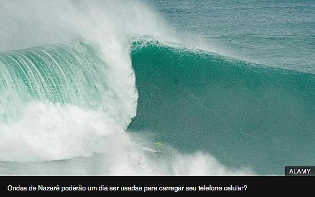 imagem de ondas de nazaré