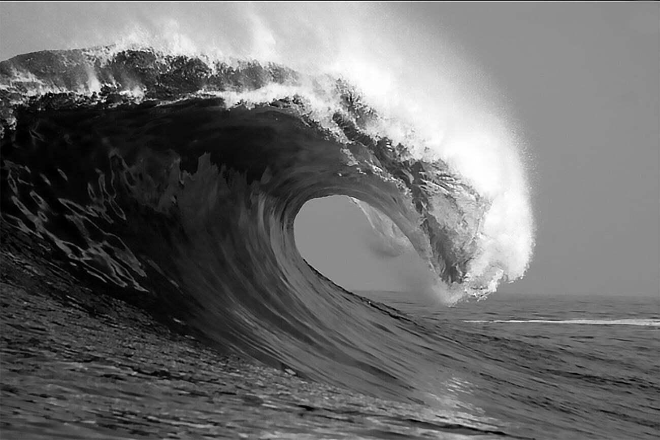 imagem de onda enorme
