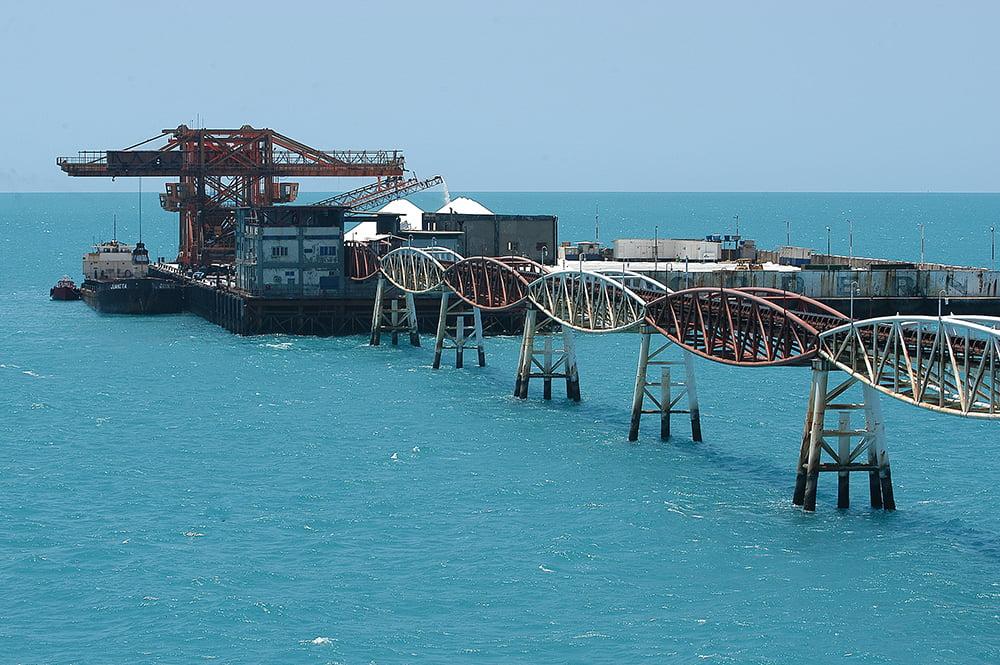 imagem do porto Ilha no Litoral do Rio Grande do Norte