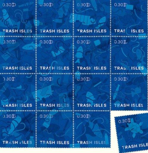 imagem de selos no post tornar uma ilha de lixo num país oficial