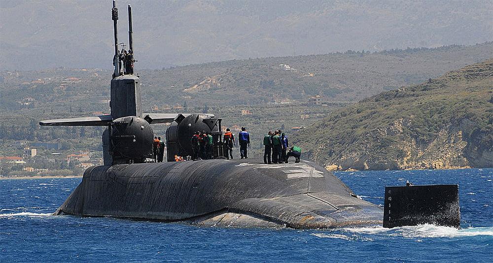 imagem de submarino classe Ohio