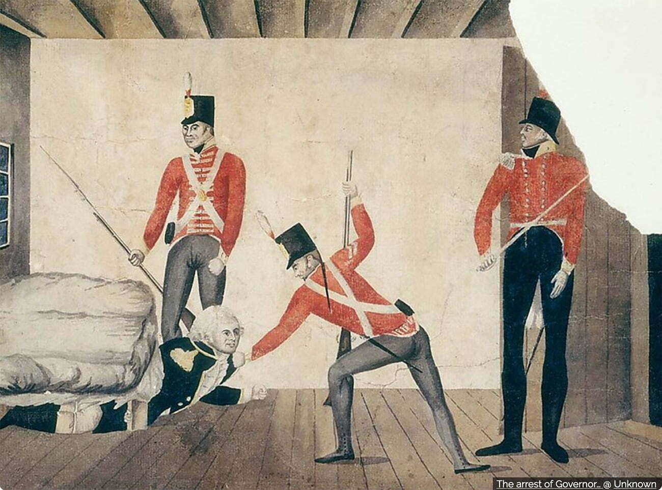 Gravura alusiva a William Bligh em Londres