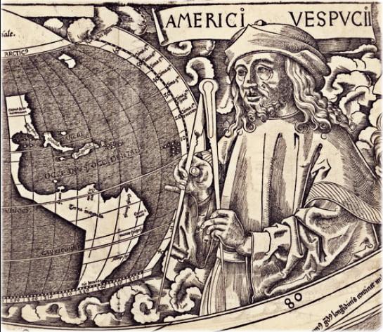 ilustração de Américo Vespúcio