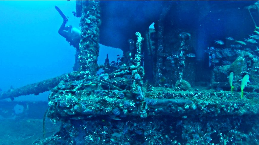 imagem do naufrágio da corveta Ipiranga