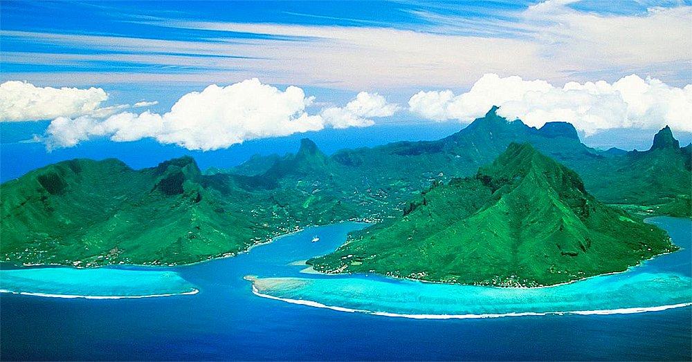 imagem de atol na polinésia francesa