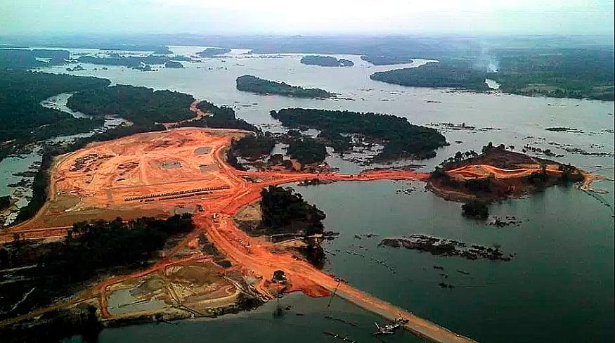 Imagem de usina hidrelétrica de Belo Monte