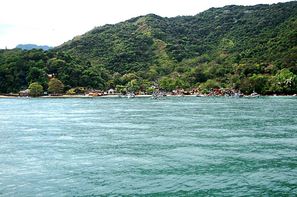 imagem da vila de Picinguaba, Ubatuba