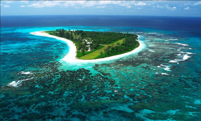 imagem de atol em Seichelles