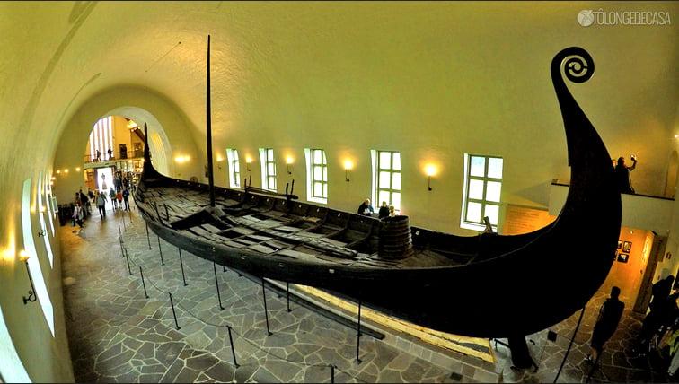 imagem do Barco de Gokstad