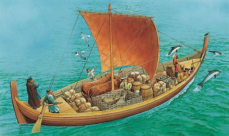 ilustração do barco viking kmart