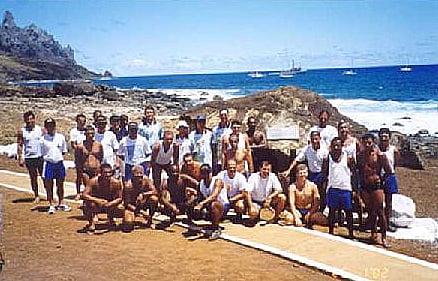 imagem de homenagem a sir Peter Blake na ilha de Trindade