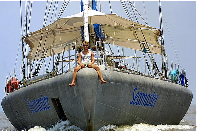 imagem do veleiro seamaster, de Peter Blake