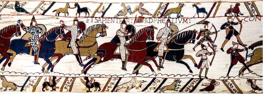 imagem da batalha de Hastings (1066)