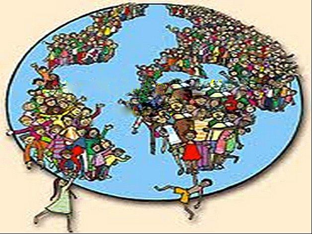 Ilustração da população mundial