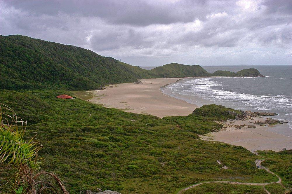 imagem de praia e restinga na ilha do Mel