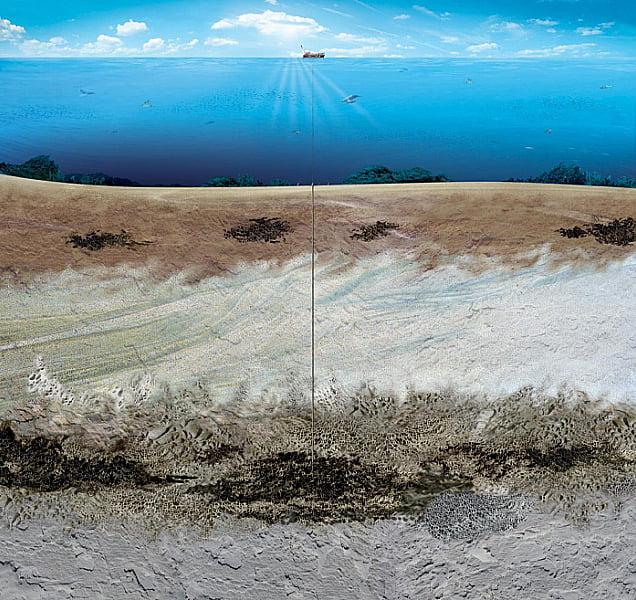 ilustração de extração de petróleo no pre-sal da petrobras