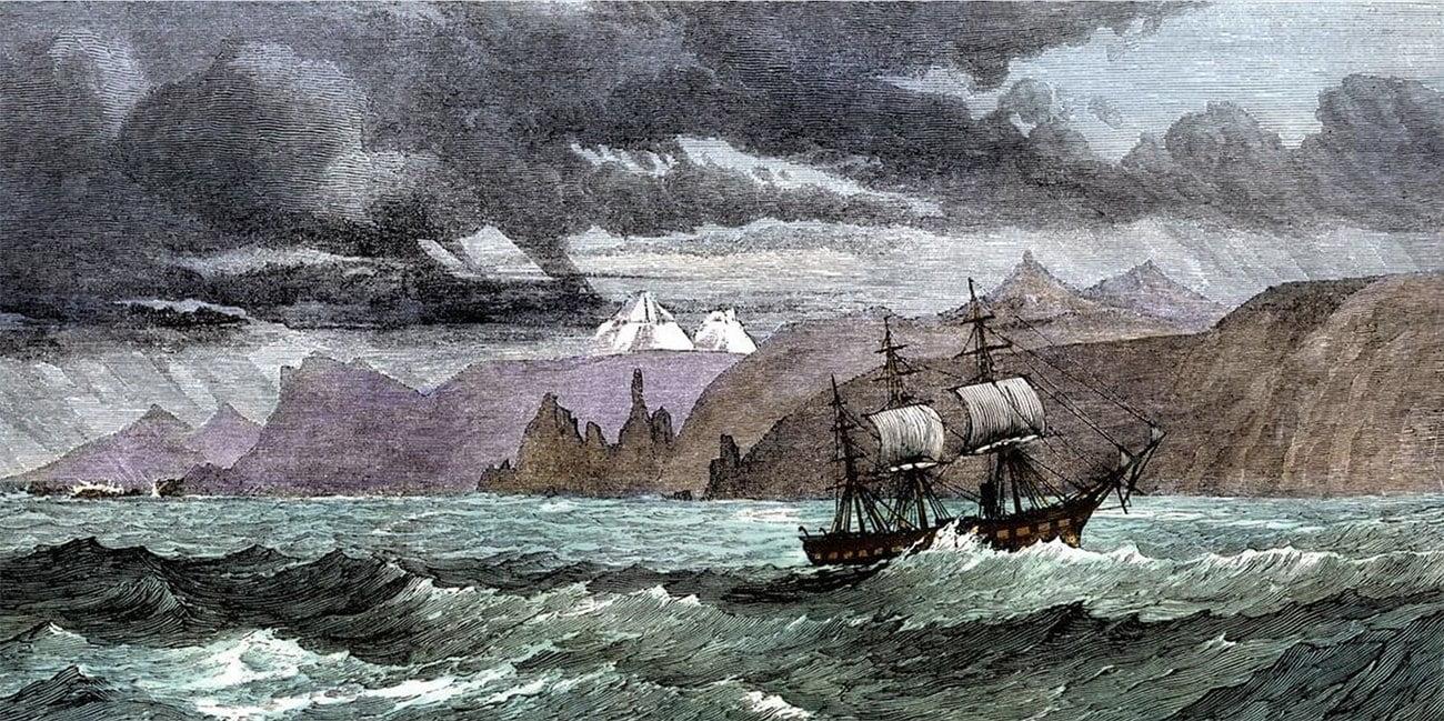 desenho do navio HMS Challenger