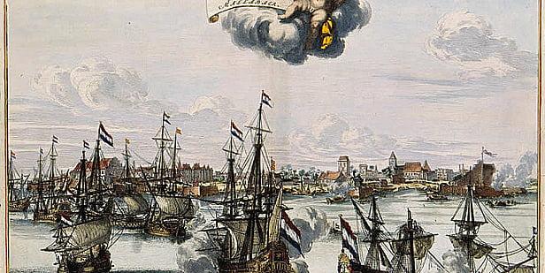 Desenhos de naus da Holanda do atlas van der Hagen