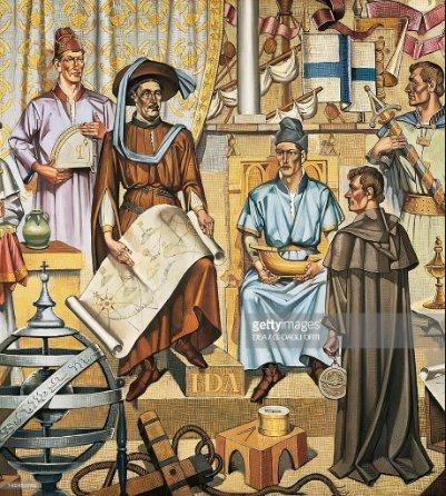 Ilustração de pintura de D. Henrique a escola de sagres