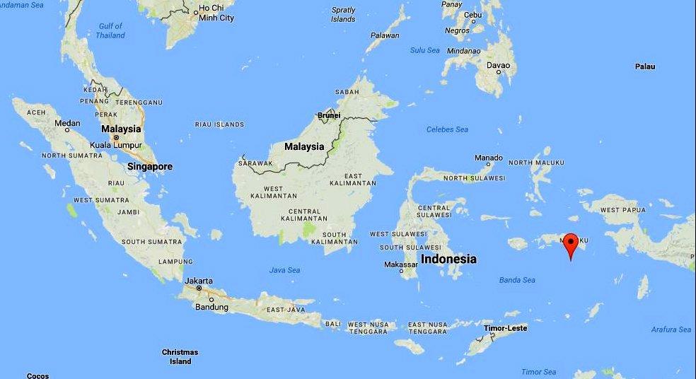 mapa das ilhas de Banda, possessão da Holanda