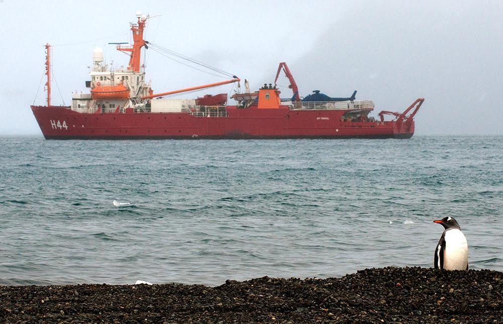 imagem do navio ary rongel que apoia o proantar