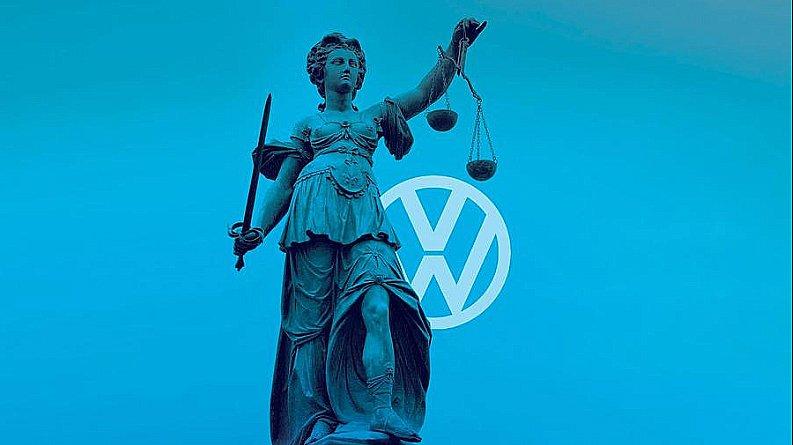 imagem de charge da marca Volkswagen e aquecimento global