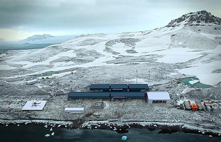 ilustração da base brasileira do proantar na antártica