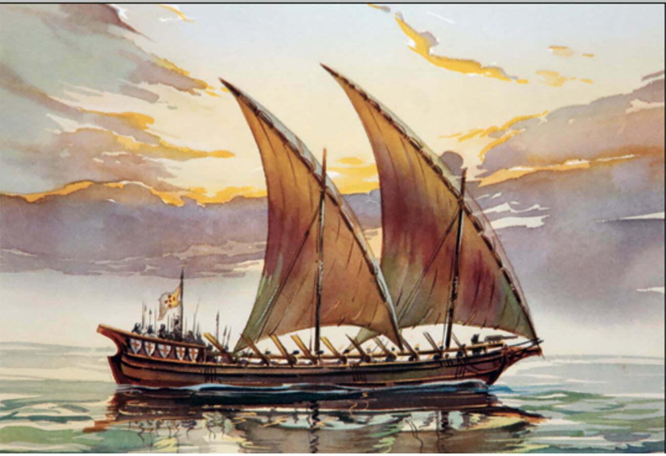 ilustração de bergantim