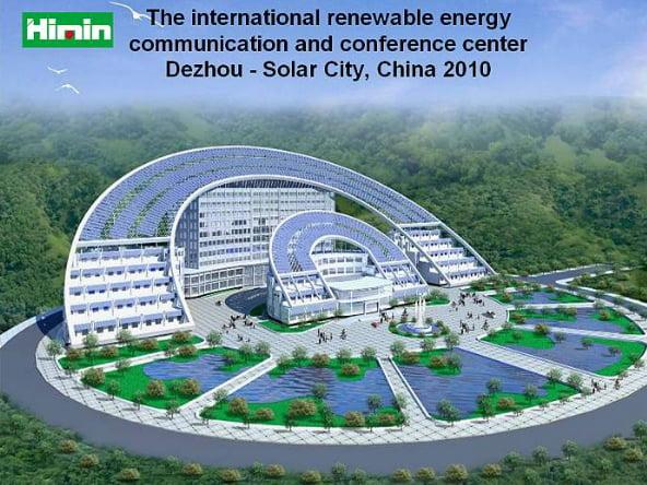 imagem do centro de energia renovável em Dezhou, China