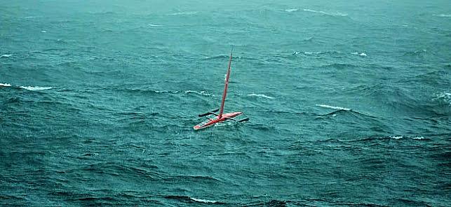 Imagem de drone na exploração marinha