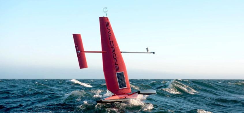 imagem de drone que ajuda exploração marinha