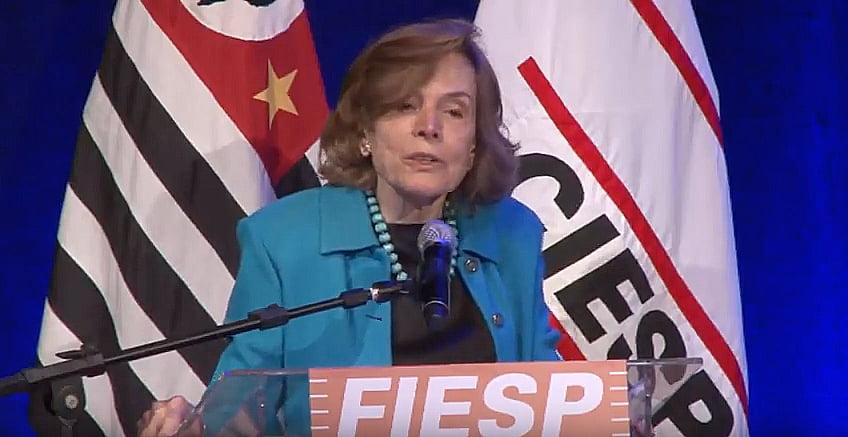 imagem de Sylvia Earle na Fiesp