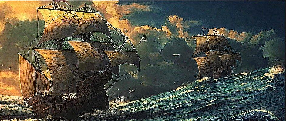 desenho de naus portuguesas