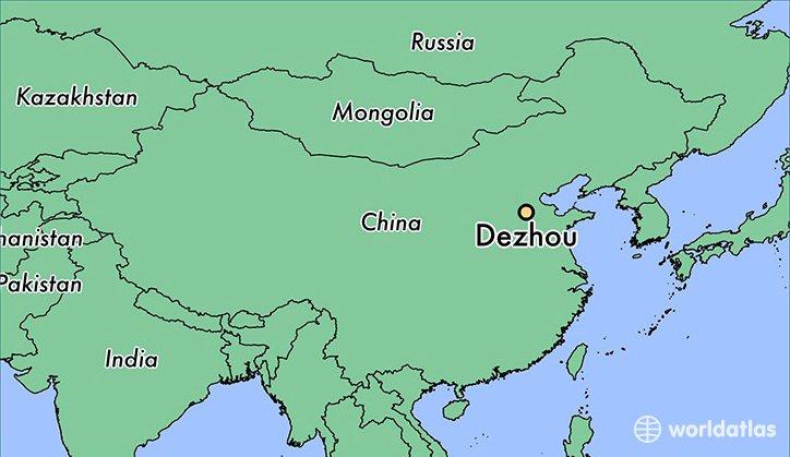 ilustração de mapa de Dezhou, China