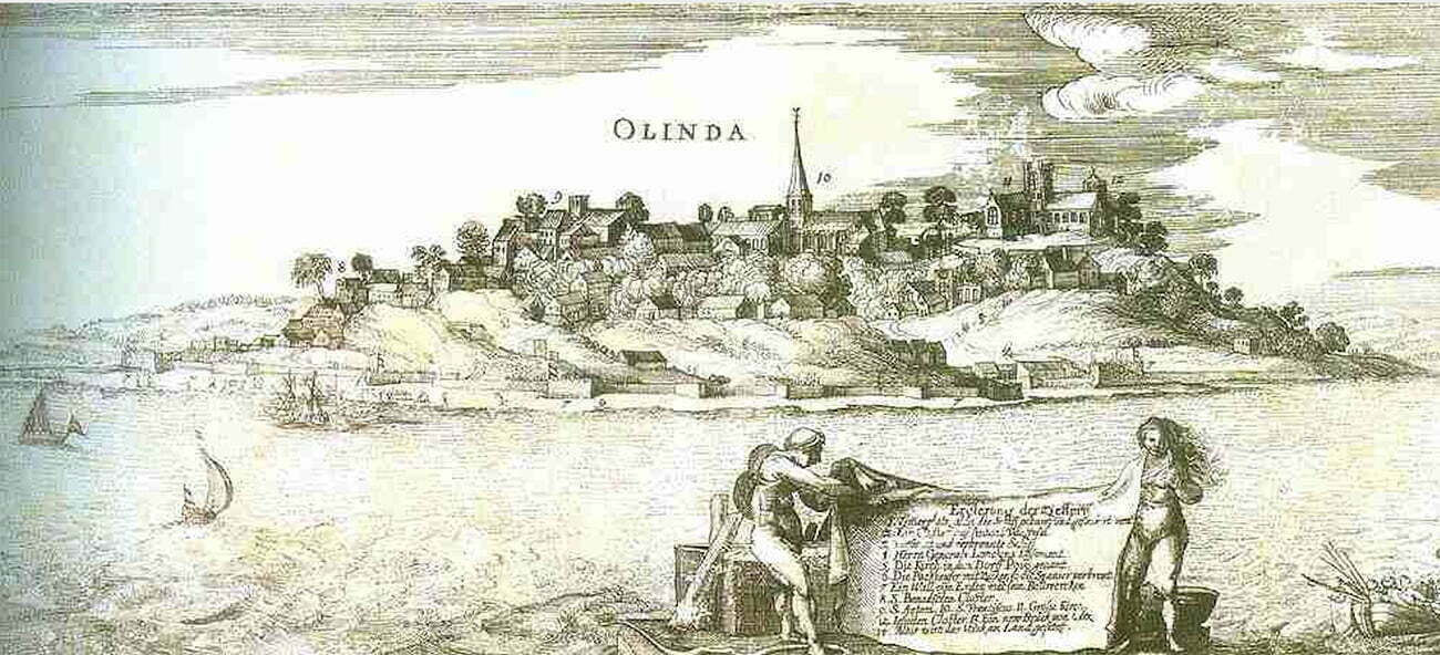 Gravura de Olinda em 1630.