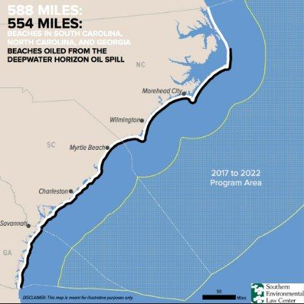 Mapa das praias americanas atingidas pela perfuração de petróleo no mar no acidente da BP
