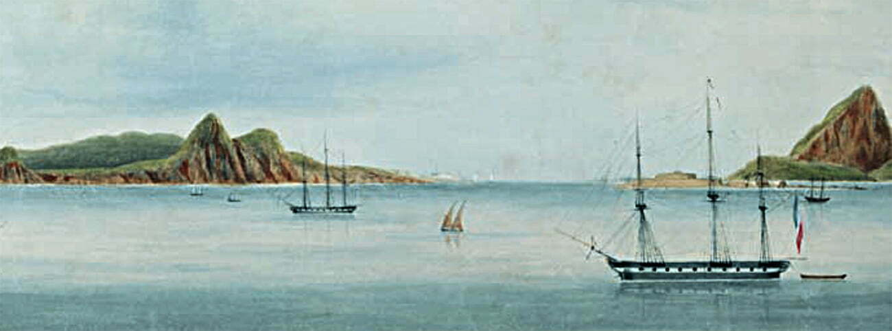Gravura do rio de janeiro no século 19