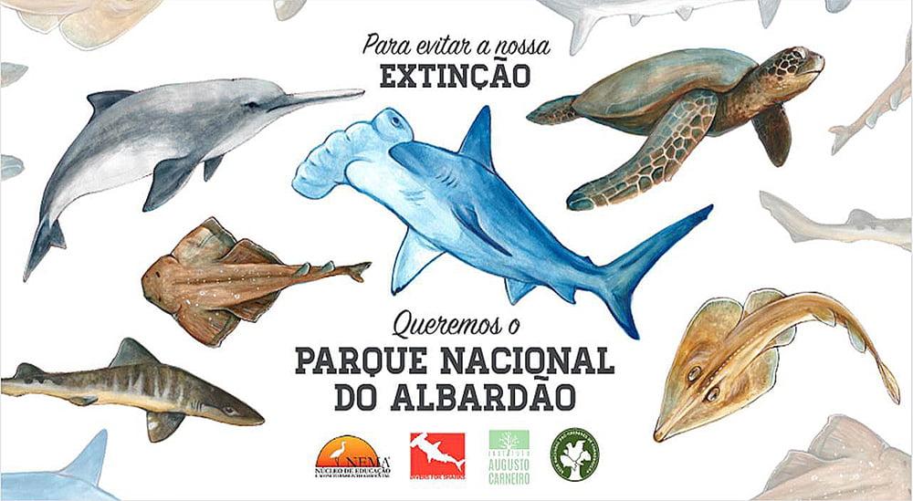 ilustração de peixes ameaçados de extinção do mar
