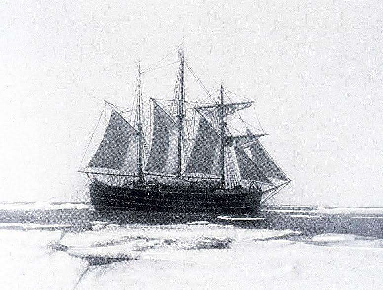 imagem do navio FRAM usado por Roald Amundsen